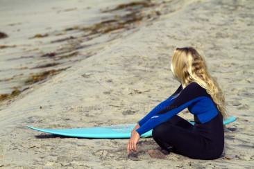 Cardiff Surfer Girl