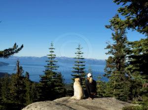 Kathy & Boss at Lake Tahoe