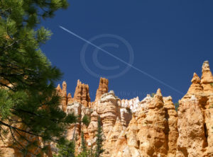 Airplane over Bryce Canyon