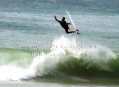 Getting Air Surfing of a young surfer